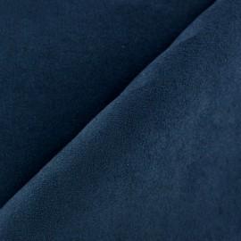 Tissu Suédine Volige marine x 10cm