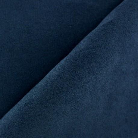 Suede Fabric - Volige Navy x 10cm