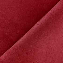 Suede Fabric - Volige Carmine Red x 10cm