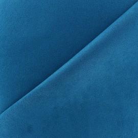 Tissu Suédine Volige Bleu canard x 10cm