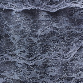 ♥ Only one piece 140 cm X 140 cm ♥ Lace with steering wheel sewn on tulle Fabric - Cornflower