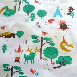 Tissu popeline Fairy Tale x 10cm