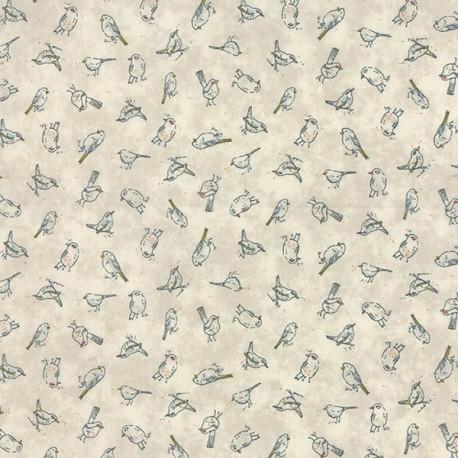 Persimmon Bluerberry fabric - Beige x 10cm