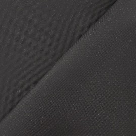 Simili cuir paillettes charbon x 10cm
