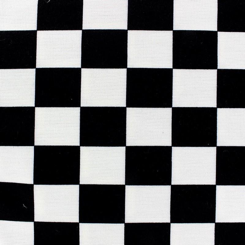 tissu jersey owen damier noir et blanc x 10cm ma petite. Black Bedroom Furniture Sets. Home Design Ideas