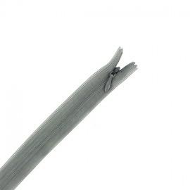 Invisible Closed bottom zipper - pearl grey