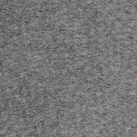 Tissu jersey matelassé France duval gris chiné x 10cm