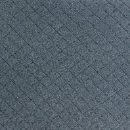 Quilted Jersey Fabric France duval - Dark Grey x 10cm