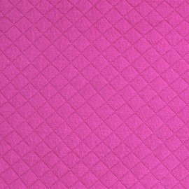 Quilted Jersey Fabric France duval - Fuchsia x 10cm