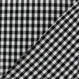 Tissu Vichy petits carreaux Noir et Blanc x 10cm