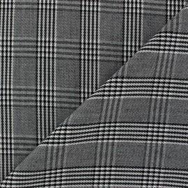 Tissu Prince de galle V1 Noir et Blanc x 10cm