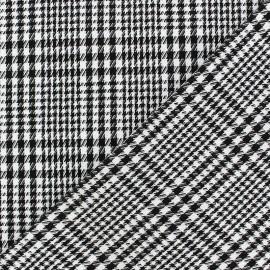 Tissu Prince de galle V2 Noir et Blanc x 10cm