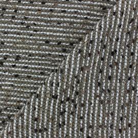 Tissu Tweed Lobelia Brun Fil lurex doré x 10cm