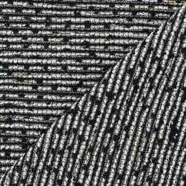 Tissu Tweed Lobelia Noir Fil lurex doré x 10cm