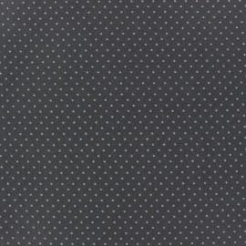 Tissu enduit coton Mini Pois Gris x 10cm