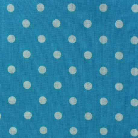 Coated Cotton Fabric - Turquoise Dots x 10cm