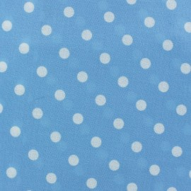 Coated Cotton Fabric - Sky Blue Dots x 10cm