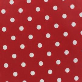 Tissu enduit coton Pois Rouge x 10cm