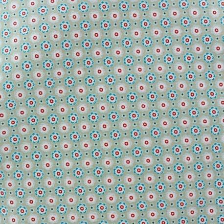 tissus pas cher 100 coton tissu enduit coton poppy ornaments petites fleurs taupe. Black Bedroom Furniture Sets. Home Design Ideas