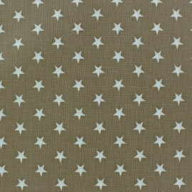 Tissu enduit Etoiles blanc /beige x 10cm