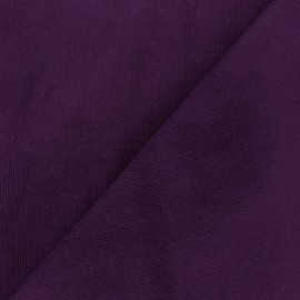 ♥ Coupon 125 cm X 140 cm ♥ Melda Milleraies velvet fabric - eggplant 200gr/ml