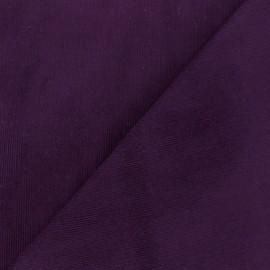 Tissu velours milleraies Melda 200gr/ml aubergine x10cm