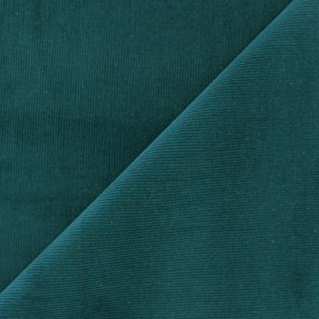 Tissu velours milleraies Melda 200gr/ml bleu canard x10cm