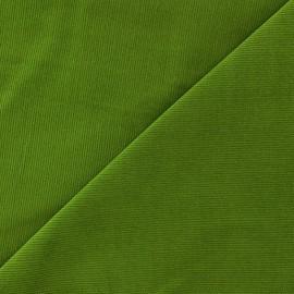 Tissu velours milleraies Melda 200gr/ml anis x10cm