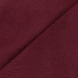 Tissu velours milleraies Melda 200gr/ml grenat x10cm