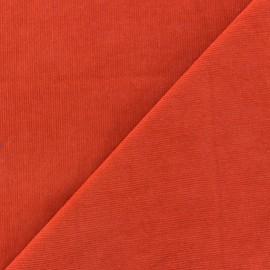 ♥ Coupon 80 cm X 140 cm ♥ Melda Milleraies velvet fabric - orange 200gr/ml