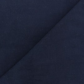 Tissu velours milleraies Melda 200gr/ml marine x10cm