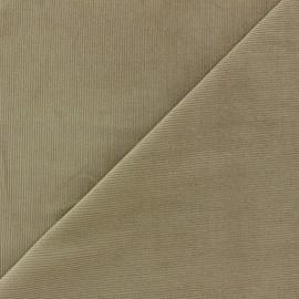 Melda Milleraies velvet fabric - taupe 200gr/ml x10cm
