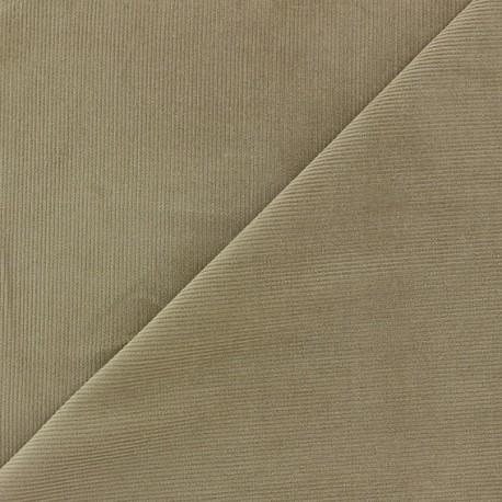 Tissu velours milleraies Melda 200gr/ml taupe x10cm