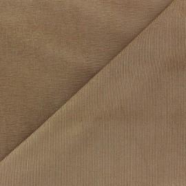 Tissu velours milleraies Melda 200gr/ml sable x10cm