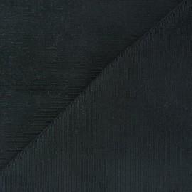Tissu velours milleraies Melda 200gr/ml charbon x10cm