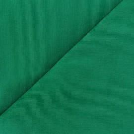 Tissu velours milleraies Melda 200gr/ml vert prairie x10cm