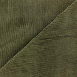 Tissu velours milleraies Melda 200gr/ml olive x10cm