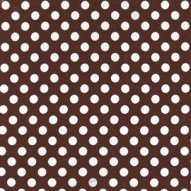 Tissu Ta Dot Brown x 10cm