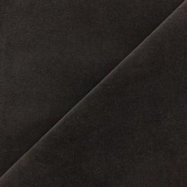 Tissu velours ras Melda Chocolat x10cm