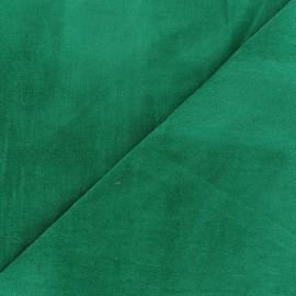 Tissu velours ras Melda Vert prairie x10cm