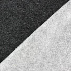 Tissu sweat gris foncé x 10cm