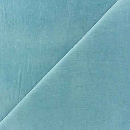Tissu velours ras Melda Bleu céleste  x10cm