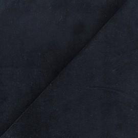 Tissu velours ras Melda Bleu nuit x10cm