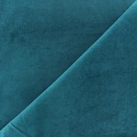 Short Melda velvet fabric - peacock blue x10cm