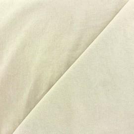 Tissu velours ras Melda écru x10cm