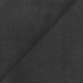 Short Melda velvet fabric - coal x10cm