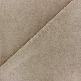 Short Melda velvet fabric - light beige x10cm