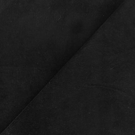 Short Melda velvet fabric - black x10cm