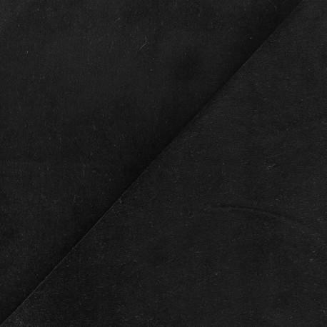 Tissu velours ras Melda Noir x10cm