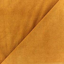 Short Melda velvet fabric - ochre x10cm